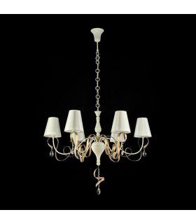 Comprar online Lámpara de Araña de 6 Luces : Colección INTRECCIO blanca