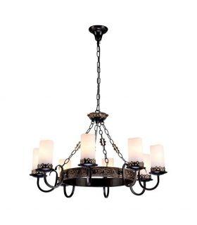Comprar online Lámpara de Estilo Rústico : Modelo PALAZZO Marrón/Oro
