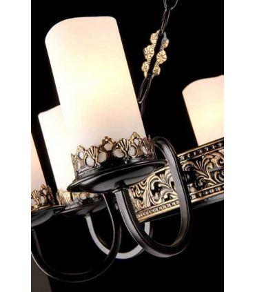 Lámpara de Estilo Rústico : Modelo PALAZZO Marrón/Oro