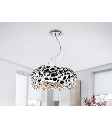 Lámparas Diseño Moderno Acabado Cromo : Colección NARISA 5 luces