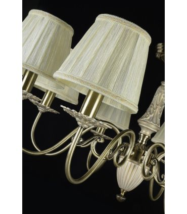 Lámparas Araña de Metal y Cerámica : Colección BATTISTA 8 luces