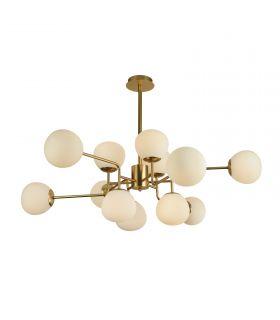 Comprar online Lámpara de Metal Oro de 12 luces : Colección ERICH
