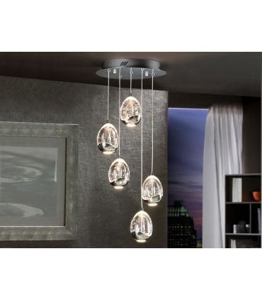 Lámparas LED de 5 luces : Colección ROCIO cromo
