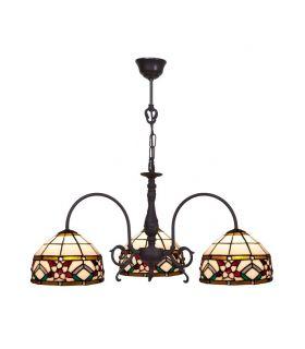 Comprar online Lámpara 3 Luces de Estilo Tiffany : Colección MUSEUM