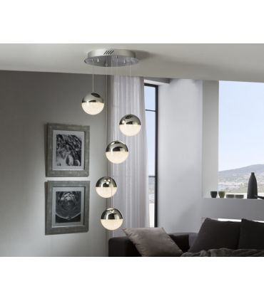 Colgante de 5 luces con Tulipas Esféricas : Colección SPHERE