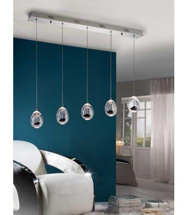 Lámparas LED de 5 luces : Colección ROCIO Cromo Lineal