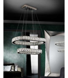 Comprar online Lámpara LED de Cristal Facetado : Colección DIVA Ovalada