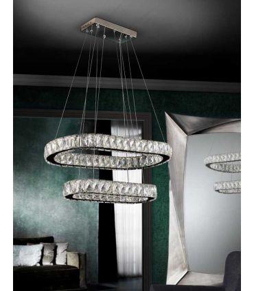Lámpara LED de Cristal Facetado : Colección DIVA Ovalada