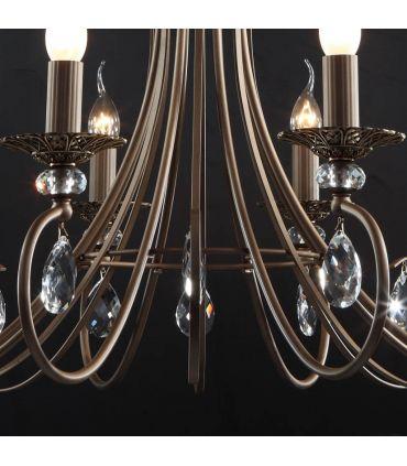 Lámpara de Araña en Metal y Cristal : Modelo TANGO