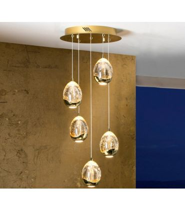 Lámparas LED de 5 luces : Colección ROCIO Oro