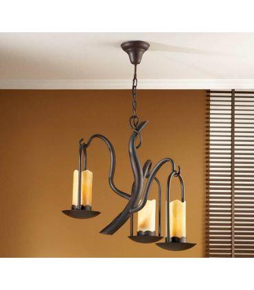 Lámpara de forja : Colección CANDELA de 3 luces.