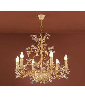 Lamparas Florentinas 6 Luces : Coleccion VERDI Oro