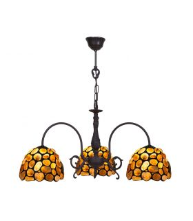 Comprar online Lámpara 3 Luces Estilo Tiffany : Colección STONE