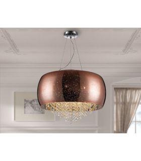 Comprar online Lámpara de 6 luces Diseño Moderno Acabado Cobre : Modelo CAELUM