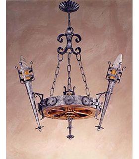 Comprar online Lámpara rústica de forja: Mod. L-100-3