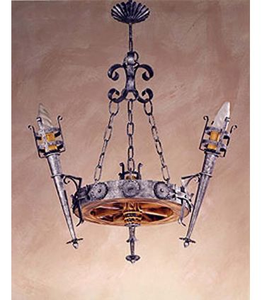 Lámpara rústica de forja: Mod. L-100-3