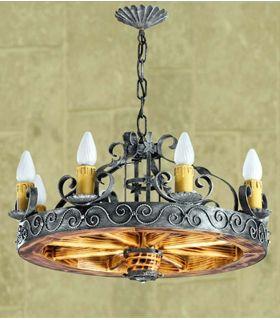 Comprar online Lámpara rústica de forja: Mod. L-115-8