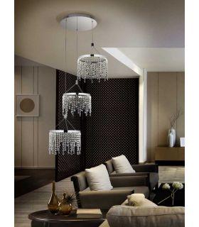 Comprar online Colgante LED de Metal y Cristal : Colección ANASTASIA 3Luces