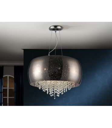 Lámpara de Techo Espejado Plata 6 luces : Colección CAELUM Schuller
