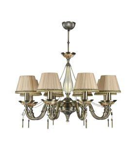 Comprar online Lámparas de Araña con Pantallas : Colección DEMITAS 8 luces
