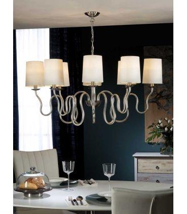Lámparas de Techo Plata 8 Luces : Colección BRIANA