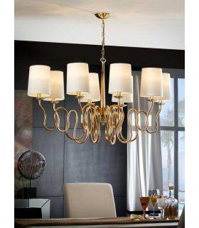 Comprar online Lámpara de techo Oro 8 Luces : Colección BRIANA