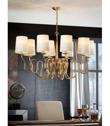 Lámparas de Techo Oro 8 Luces : Colección BRIANA