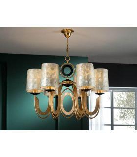 Comprar online Lámpara 6 Luces en Pan de Oro : Colección EDEN