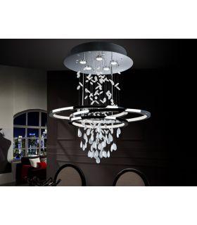 Comprar online Lamparas Modernas con Abalorios de Cristal : Modelo BRUMA 5 luces