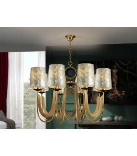 Comprar online Lámpara 8 Luces en Pan de Oro : Colección EDEN