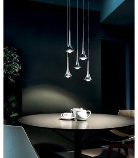Comprar online Colgante estilo moderno de 5 Luces Led : Modelo RAIN
