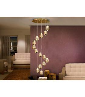 Comprar online Colgantes LED de 14 luces : Colección ROCIO oro