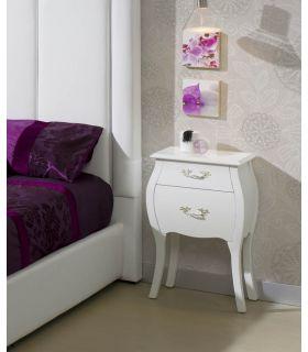 Mesitas Clásicas para dormitorio : Modelo ISABELINA Blanca