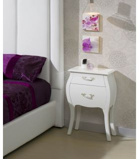 Comprar online Mesitas Clásicas para dormitorio : Modelo ISABELINA Blanca