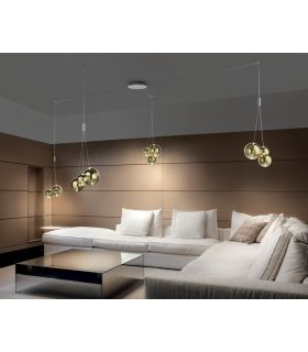 Lámpara Moderna con Tulipas de Cristal : RANDOM