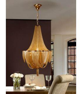 Comprar online Lámpara de techo 12 luces : Colección MINERVA oro
