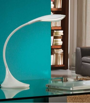 Flexo de Sobremesa LED : Modelo SWAN Blanco