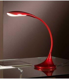 Comprar online Lámparas LED Moderna para escritorios : Modelo SWAN Rojo