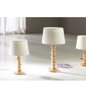 Comprar online Lámpara de Mesa en Madera y Textil : Modelo OCHOS