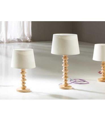 Lámpara de Mesa en Madera y Textil : Modelo OCHOS