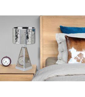 Comprar online Lámparas de Mesillas de noche Base Cristal : Colección CICLOPE espejo