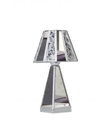 Lamparitas de Mesa con Base de Cristal : Colección MERCIA