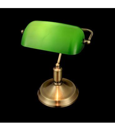 Lamparita de Escritorio de Metal con Tulipa Verde : Modelo KIWI