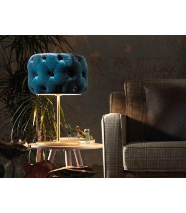 Lámpara de Mesa en Acero y Terciopelo : Modelo NUVOLA