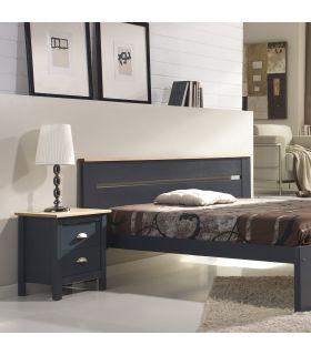 Comprar online Mesita para Dormitorio en Madera de Pino : Modelo JADE Gris Antracita