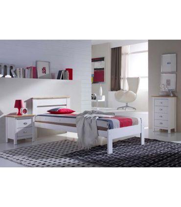 Mesita para Dormitorio en Madera de Pino : Modelo JADE Blanco