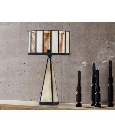 Lámparas de Sobremesa Pie de Cristal : Colección CICLOPE opalina/berona