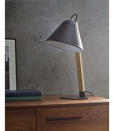 Lámpara de Sobremesa en Madera y Metal : Modelo VERGARA