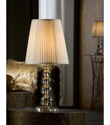 Lámpara de Sobremesa Grande : Colección MERCURY CHAMPAGNE