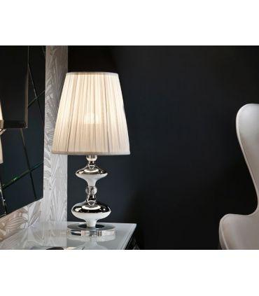 Lámparas de Sobremesa : Modelo OLIVER PLATA grande